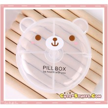 Kawaii Pill or Trinket Box - Clear Bear!