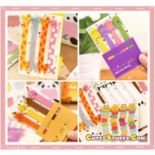 Kawaii 6 Style Set Long Post It Notes or Bookmark Tabs!