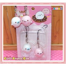 Kawaii Rare Mamegoma Donut Series Seal Phone Strap Set!