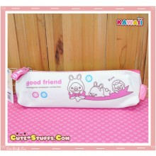 Kawaii San-X Mamegoma Canvas Pencil Case - Pink