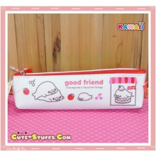 Kawaii San-X Mamegoma Canvas Pencil Case - Red