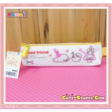 Kawaii San-X Mamegoma Canvas Pencil Case - Yellow