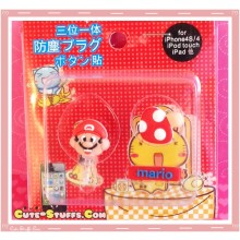 Kawaii Ipod Iphone Ipad Dust Plug Set Data Mario