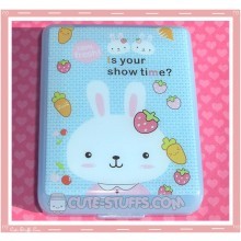 Kawaii Blue Metoo Bunny Rabbit Large Contact Lens Case