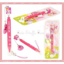 Kawaii My Melody Multi Purpose Stylus Pen + Screen Cleaner w/ Strap!