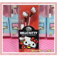 Rare Kawaii Square Hello Kitty Sanrio Licensed Earphones!