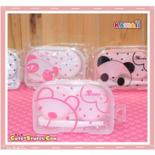 Kawaii Translucent Travel Lens Case or Trinket Box! - Metoo Bear