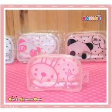 Kawaii Translucent Travel Lens Case or Trinket Box! - Metoo Bunny