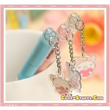 Kawaii Rare Cotton Doll Bunny Pen w/ Charm! U Choose Color!