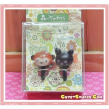 Kawaii 3.5mm Wood Monkey & Bunny Dust Plug Set Duo