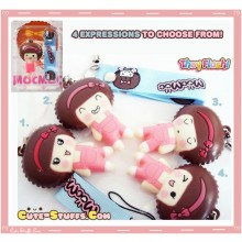 Kawaii Rare Flashing MocMoc Phone Charm! w/ Wrist Strap