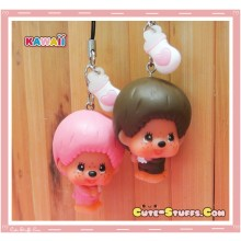 Kawaii Monchhichi Swivel Phone Charm! Rare! U Choose!