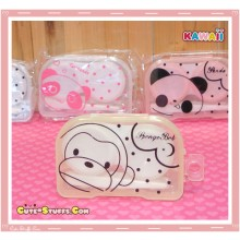 Kawaii Translucent Travel Lens Case or Trinket Box! - Monkey Yellow