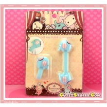 Kawaii Rare 2 PC Cord Holder Sentimental Circus Mouton w/ Button clip