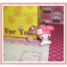 Kawaii Rare Flashing My Melody Lamp Phone Charm! w/ Wrist Strap