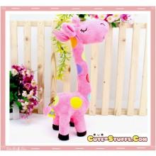 Large Tall Kawaii Nanaco Giraffe Plush Pink!