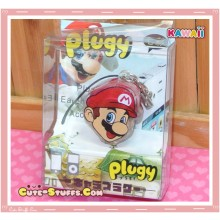 Kawaii Rare Flashing Transparent Head Dust Plug! Mario