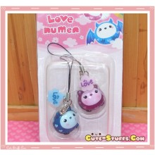 Kawaii Rare Love Numen Bat Phone Strap Set!
