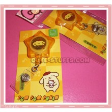 Kawaii Sanrio Pompom Purin Retractable ID Lanyard & Key Holder