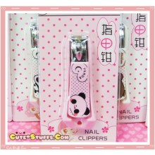 Kawaii Pink Panda Nail Clippers