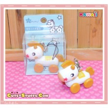 Kawaii Rilakkuma's Wood Pull Along Horse Orange Phone Strap! Rare!