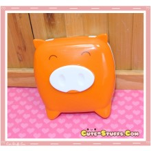 Kawaii Monokuro Boo Pig Contact Lens Case - Orange