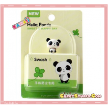 Kawaii Rare Good Friends Series Bobble Head Dust Plug! Panda!
