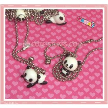 Kawaii Baby Resin Panda Necklace - Laying