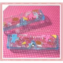 Kawaii Eyeglasses Case - Pink & Blue Bear