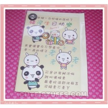 Kawaii Panda Rabbit and Pig Tag Card