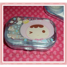 Kawaii Travel Lens Case or Trinket Box! - Bear Costume Blue