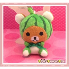 Kawaii Unique Large Plush Rilakkuma Bear Keychain Charm Fruit! - Watermelon