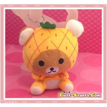 Kawaii Unique Large Plush Rilakkuma Bear Keychain Charm Fruit! - Pineapple