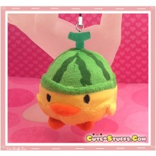 Kawaii Unique Plush Kiiroitori Chicken Charm Fruit! - Watermelon