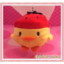 Kawaii Unique Plush Kiiroitori Chicken Charm Fruit! - Strawberry