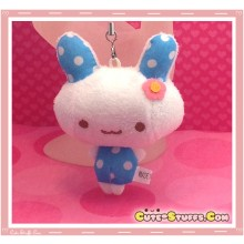 Kawaii Unique Polka Dot Bunny Plush Phone Charm - Blue!