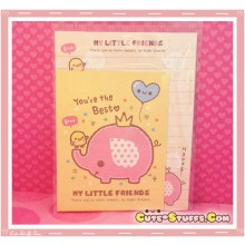 Kawaii My Little Friends Elephant Writing Set! Rare! Discontinued
