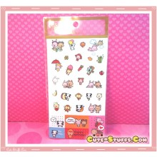 Kawaii Happy Go Lucky Sticker Set! Rare!