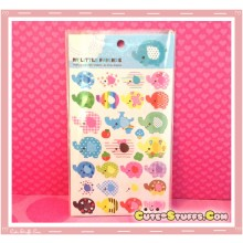 Kawaii My Little Friends Elephant Glitter Sticker Set! Rare! Discontinued