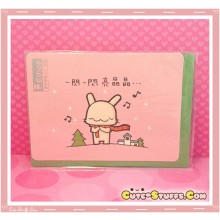 Kawaii Happy Go Lucky Christmas Card - Music!