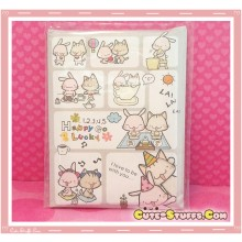 Kawaii Happy Go Lucky Mini Letter Writing Set! Rare! 80 pcs!