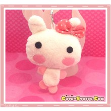 Kawaii Unique Plush Pink Bow Bunny