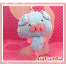 Kawaii Unique Plush Pig Phone Strap Charm! Blue!