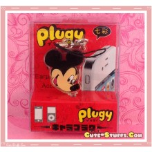 Kawaii Rare Flashing Transparent Head Dust Plug! Mickey Mouse