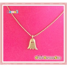 Cute Kawaii Spooky Bronze Ghost Necklace!