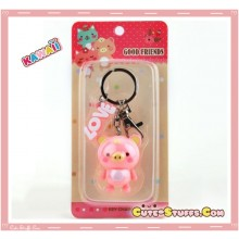 Kawaii Large Pig Key chain or Backpack & Purse Dangle Charm