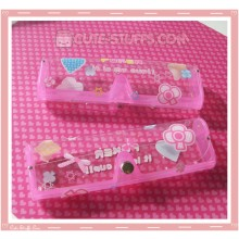 Kawaii Eyeglasses Case - Pink Poker