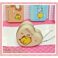 Kawaii Rilakkuma Tin Keychain Brown Heart Kiiroitori Candy