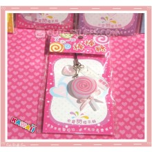 Kawaii Rare Flashing Lolli Pop Phone Charm! Strawberry!