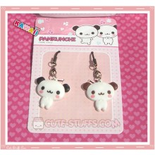 Kawaii Rare Pankunchi Panda Phone Strap Set! Black & Brown!
